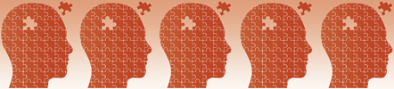 image of silhouetted heads in profile put together with puzzle pieces