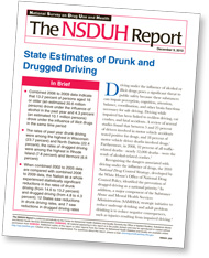 cover of State Estimates of Drunk and Drugged Driving—click to view publication