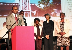 Mount Zion Baptist Church leaders at a Moving Together in Faith & Health celebration in Seattle