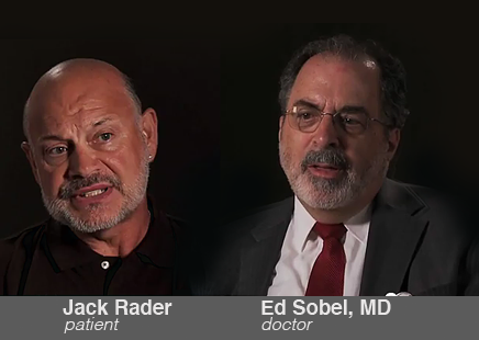 Jack Rader, left, and his doctor, Edward Sobel, talk about what electronic health records mean to them and to the doctor-patient relationship.