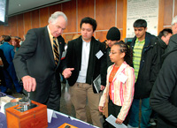 Dr. Lindberg with students