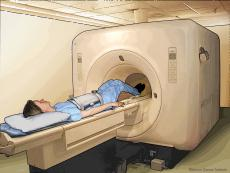 Illustration of Magnetic Resonance Imaging (MRI) of the abdomen