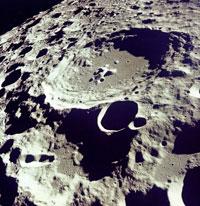Crater 308 Viewed from Lunar Orbit