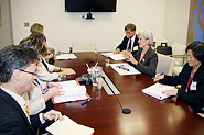 Meeting with HHS Secretary Sebelius, HHS Officials, Australian Minister of Health and Ageing and staff. Photo Credit: Don Conahan.
