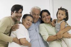 Fotografía de una familia