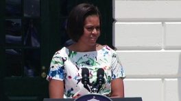 """First Lady Michelle Obama at """"Chefs Move to Schools"""" Event"""