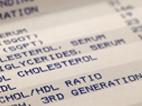 image of cholesterol test results