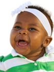 image of happy African-American baby