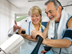 image of male patient on an exercise machine