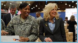 Dr. Jill Biden at the USO