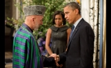 President Obama and President Karzai at the UN General Assembly Reception