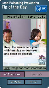 Lead Poisoning Prevention. Flash Player 9 or above is required.