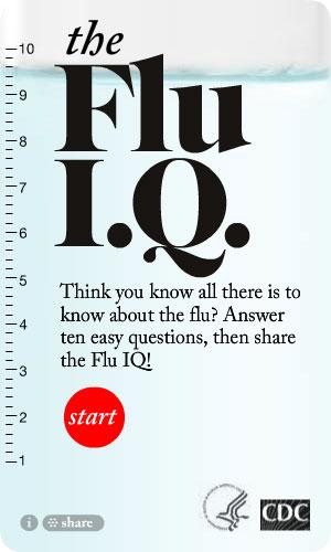 CDC Flu I.Q. Widget. Flash Player 9 is required.