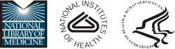 NLM, NIH and HHS logos