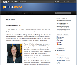 FDA Voice Screenshot showing what the blog looks