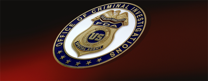 Badge of the Office of Criminal Investigations - FDA