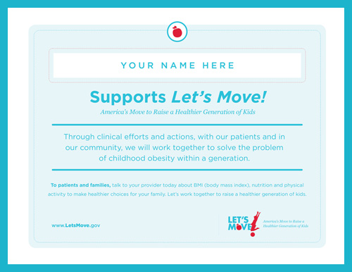 Support Let's Move