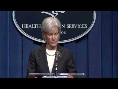 Secretary Sebelius and other HHS officials make an announcement about Pioneer Accountable Care Organizations.