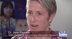Frame from the video NIMH Director Talks with NIMH Researcher about the High Priority Research Strategies of Suicide Prevention.