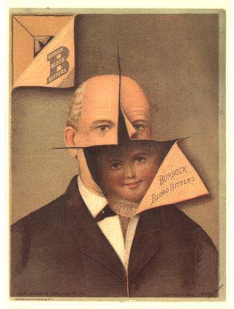 Advertisement for the invigorating benefits of Burdock Blood Bitters, ca. 1880