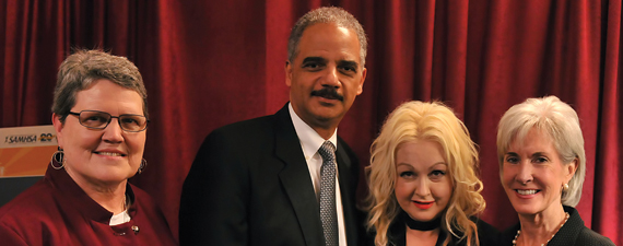 SAMHSA Administrator Pamela S. Hyde, U.S. Attorney General Eric Holder, Cyndi Lauper, and HHS Secretary Kathleen Sebelius celebrated National Children's Mental Health Awareness Day.
