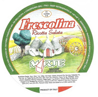 Package of Frescolina brand ricotta salata cheese