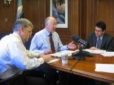 Deputy Secretary Hayes, Secretary Salazar and Commissioner Conner