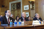 Secretary of the Interior Ken Salazar testifies to the Senate Indian Affairs Committee (photo by Ron Tull-DOI)
