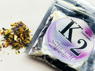 Imagen de K2, una marca popular de Spice.