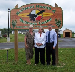 SAMHSA RA Kathryn Power (L), ACF RA Mary Ann Higgins (C), and HRSA RA Jeff Reck (R) made a joint visit to 5 Maine Tribal Chiefs in July.