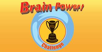 Brain Power Grades 6-9; a graphic of a tropy