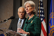 HHS Secretary Sebelius announces the Health Care Innovation Challenge. Credit: Photo by Chris Smith – HHS Photographer.