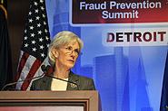 HHS Secretary Sebelius at Fraud Summit. Credit: Photo by Rick Bielaczyc.
