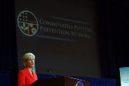 HHS Secretary Sebelius announces the Communities Putting Prevention to Work initiative from HHS headquarters in Washington, DC. Credit: Photo by Chris Smith – HHS Photographer.