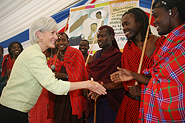 HHS Secretary Sebelius with youth performers in Dar es Salaam, Tanzania. Photo Credit: US Embassy of Africa