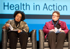 photo of SAMHSA Administrator Pamela S. Hyde and another presenter