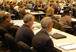 Rear view of Investigator Course audience