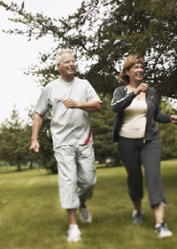photo of older couple walking
