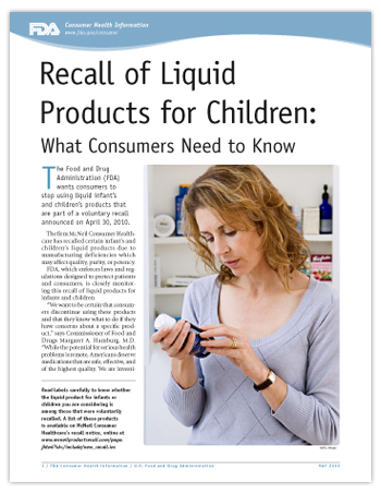 PDF of this article, including photo of woman looking at bottle of liquid medicine.