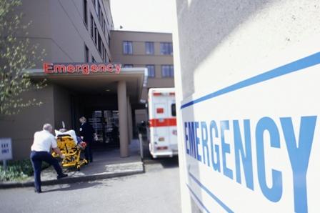 Hospital Emergency entrance.