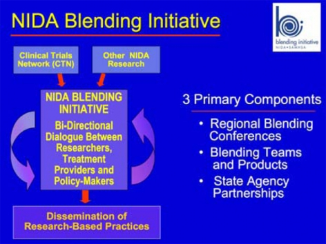 The bi-directional model inherent throughout all levels of the NIDA Blending Initiative is designed to accelerate individual, program and systems-level change across the country.