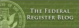 The Federal Register Blog
