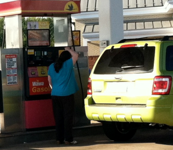 Photo of vehicle at gas station