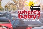 image of parked cars with Where's Baby? campaign logo