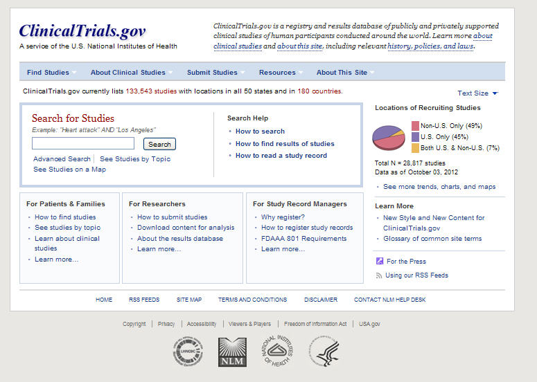 Clinical Trial Web Page
