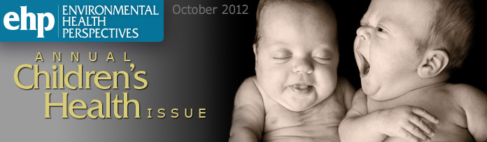 Environmental Health Perspectives- October 2012- Annual Children's Health Issue: photo of two babies