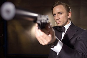 Actor Daniel Craig is shown as the latest James Bond in this undated publicity photograph released by EON Productions October 14, 2005. The English actor was named as the next James Bond Friday, ending months of speculation over who would replace Pierce Brosnan as agent 007 on Her Majesty's secret service. Craig will star in 'Casino Royale', which begins filming in January 2006. NO SALES NO ARCHIVES  REUTERS/Greg Williams/EON Productions/Handout