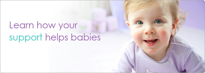 Learn how your support helps babies