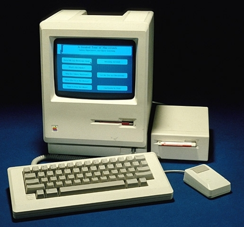 "Image description: In January 1984, Apple Inc. introduced a graphic user interface to its new computers. The idea had originated at Xerox's Palo Alto Research Center in the 1970s, but Xerox was slow to commercialize it. Apple proved far more successful when it introduced the Macintosh with a splashy television advertisement during Super Bowl XVIII. The original price was around $2,500. Learn more about Apple's ""Classic"" Macintosh computer. Photo from the National Museum of American History"