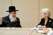 HHS Secretary Sebelius with Israeli Deputy Minister of Health, Yaakov Litzman, at a bilateral meeting with Israel, at the 65th World Health Assembly. Credit: Photo by US Mission/Eric Bridiers.